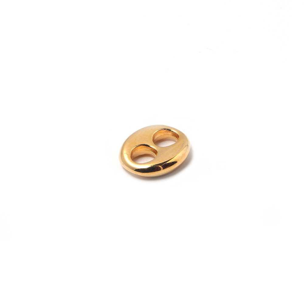 Calabrote pequeño bañado en oro de 24 quilates.