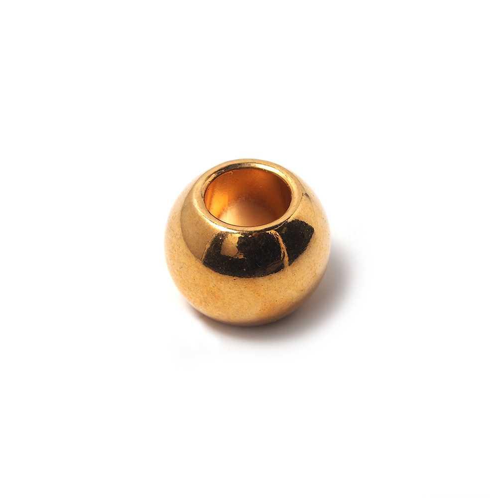 Bola mediana, de 16mm de diámetro exterior, con un agujero pasante de 8mm. Bañada en oro.