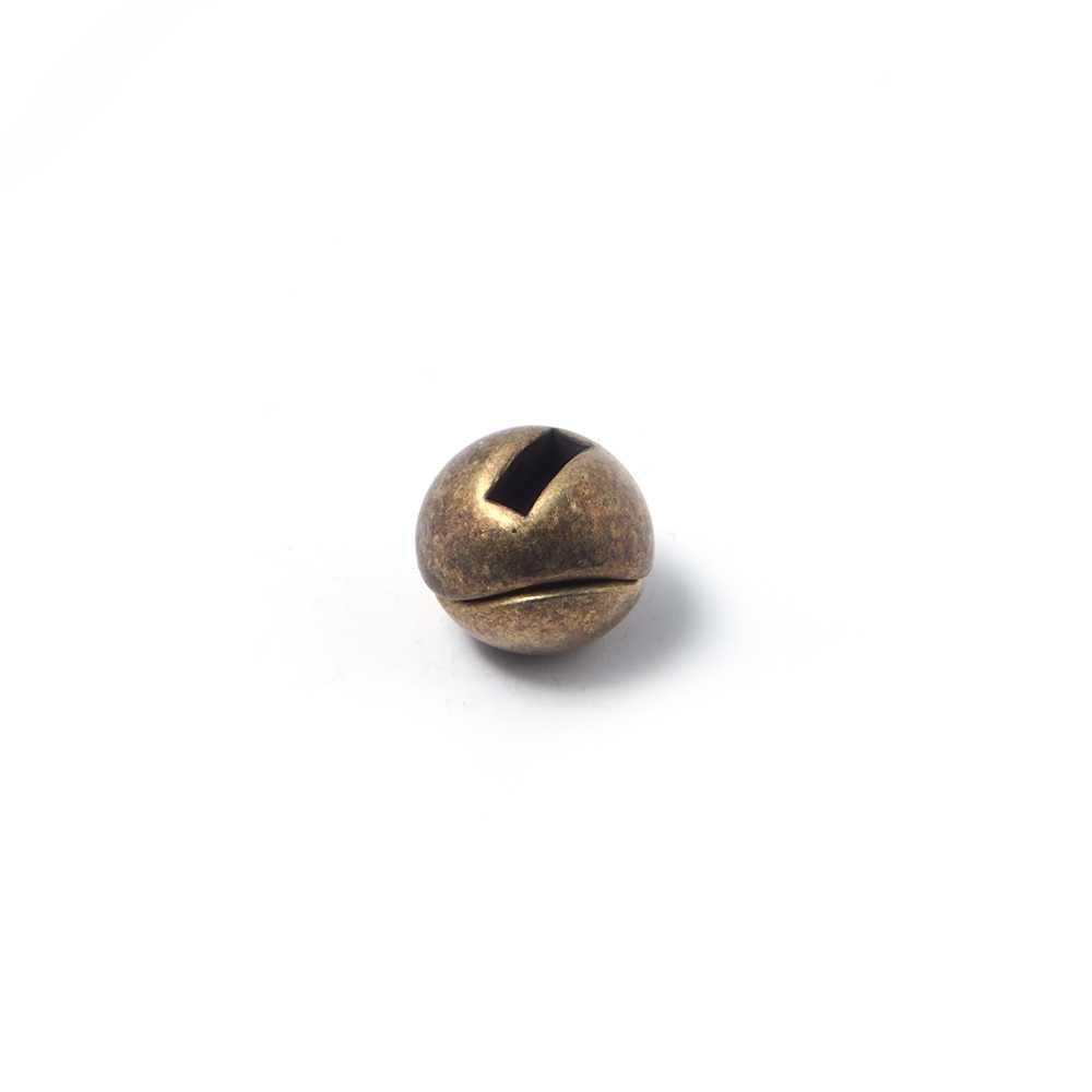 Cierre de imán bañado en oro envejecido, bola beisbol, 6mm x 2.5mm.