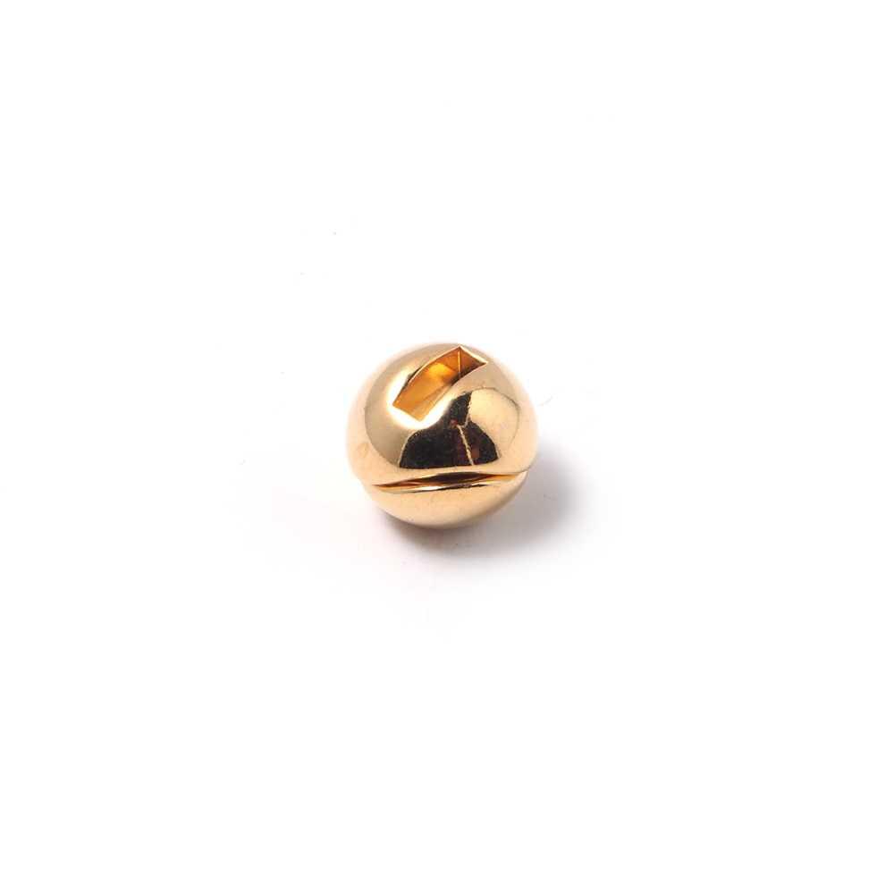 Cierre de imán bañado en oro, bola beisbol, 6mm x 2.5mm.
