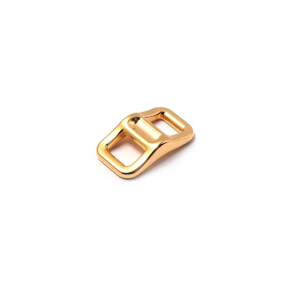 Trebilla Polo, con pase para cuero de 6,5 mm de ancho. Bañado en oro de 24 quilates.