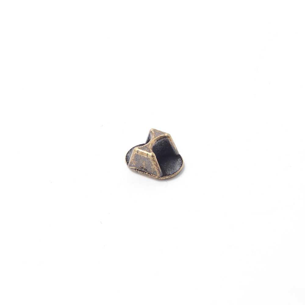 Conversor cierre regaliz (10.5mm x 7mm) a doble cuero de 5mm. Bañado en oro evnejecido.