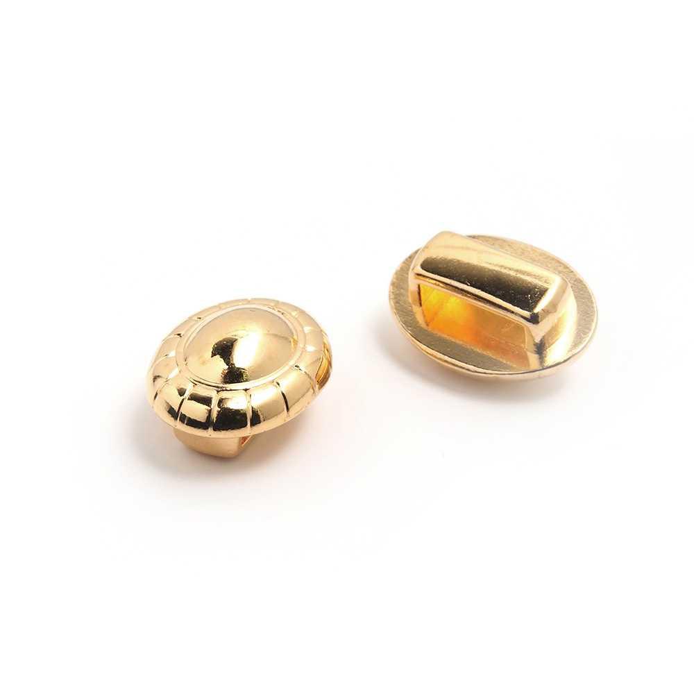 Entrepieza cordón bola, para cuero de 9.5mm x 2.5mm. Bañada en oro de 24 quilates.