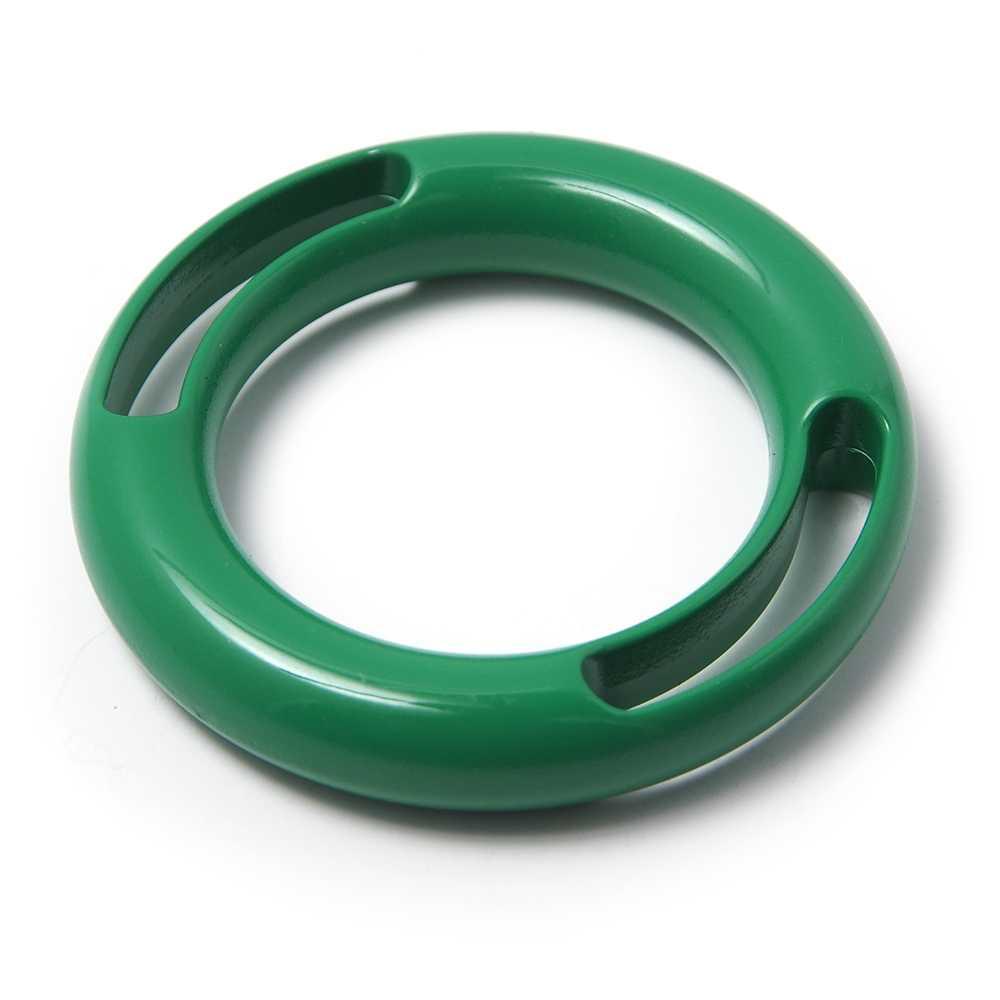 Anilla dos ranuras, pintada en color verde, con pase interior de 30 mm.