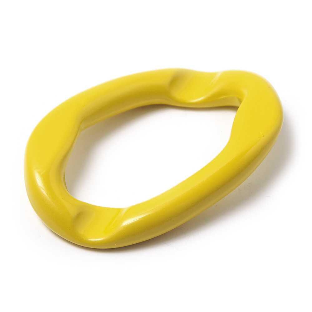 Anilla Eslabón Grande. Pintada en color amarillo.