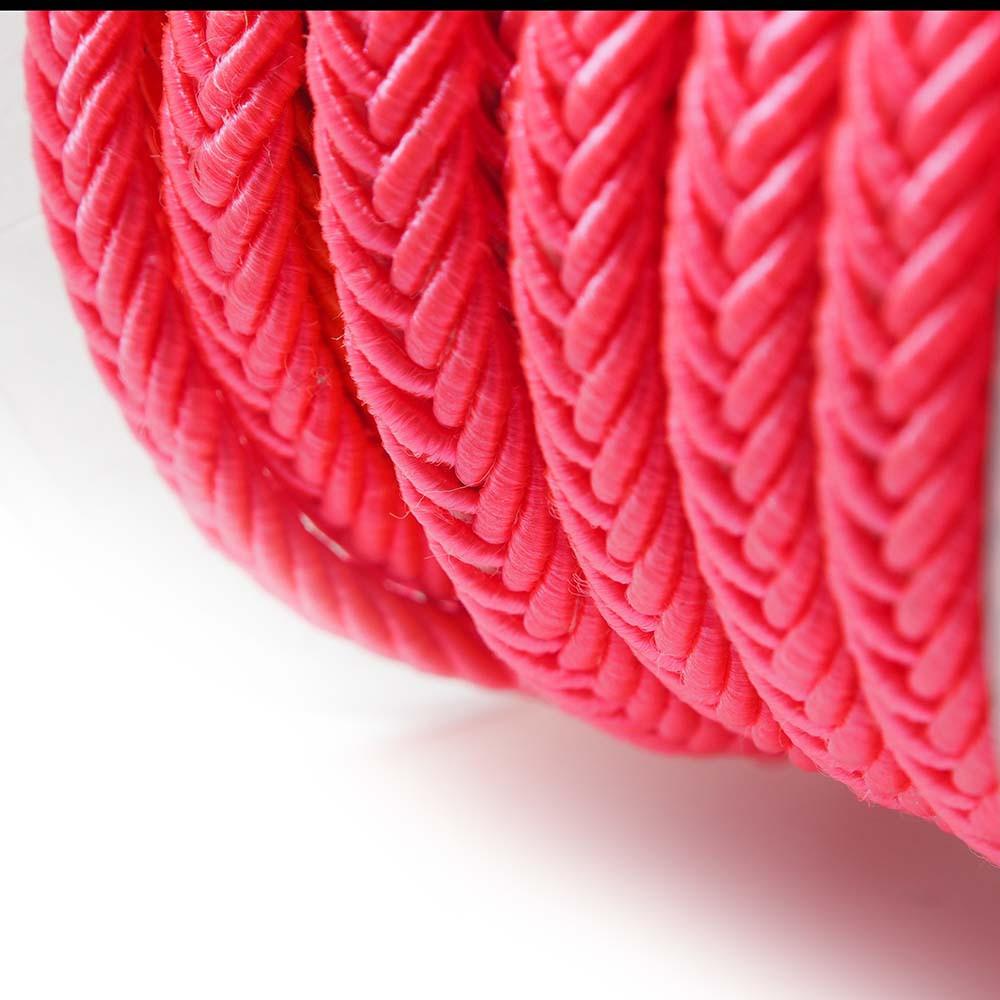 Cordón trenzado. Color rosa fluorescente.