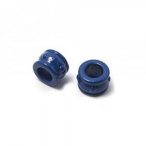 Entrepieza Cupa, para cuero de diámetro 5 mm. Pintada en color azul.