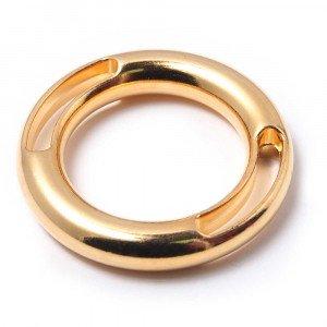 Anilla dos ranuras, bañada en oro de 24 quilates, con pase interior de 30 mm.