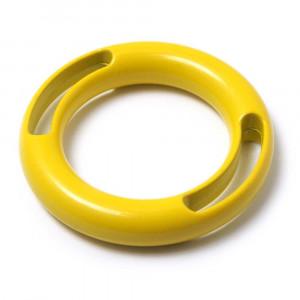Anilla dos ranuras, pintada en color amarillo, con pase interior de 30 mm.
