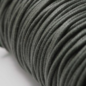 Cordón encerado redondo de 2mm de grosor. Color Verde.