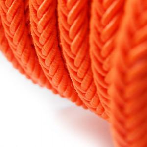 Cordón trenzado. Color naranja fluorescente.
