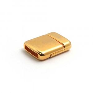 Cierre imán rectangular redondeado, 12.5x2.5mm, oro.