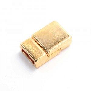 Cierre imán plano liso, 9.5x2.5mm, oro.