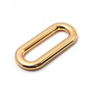 Anilla ovalada pase 25mm. Oro.