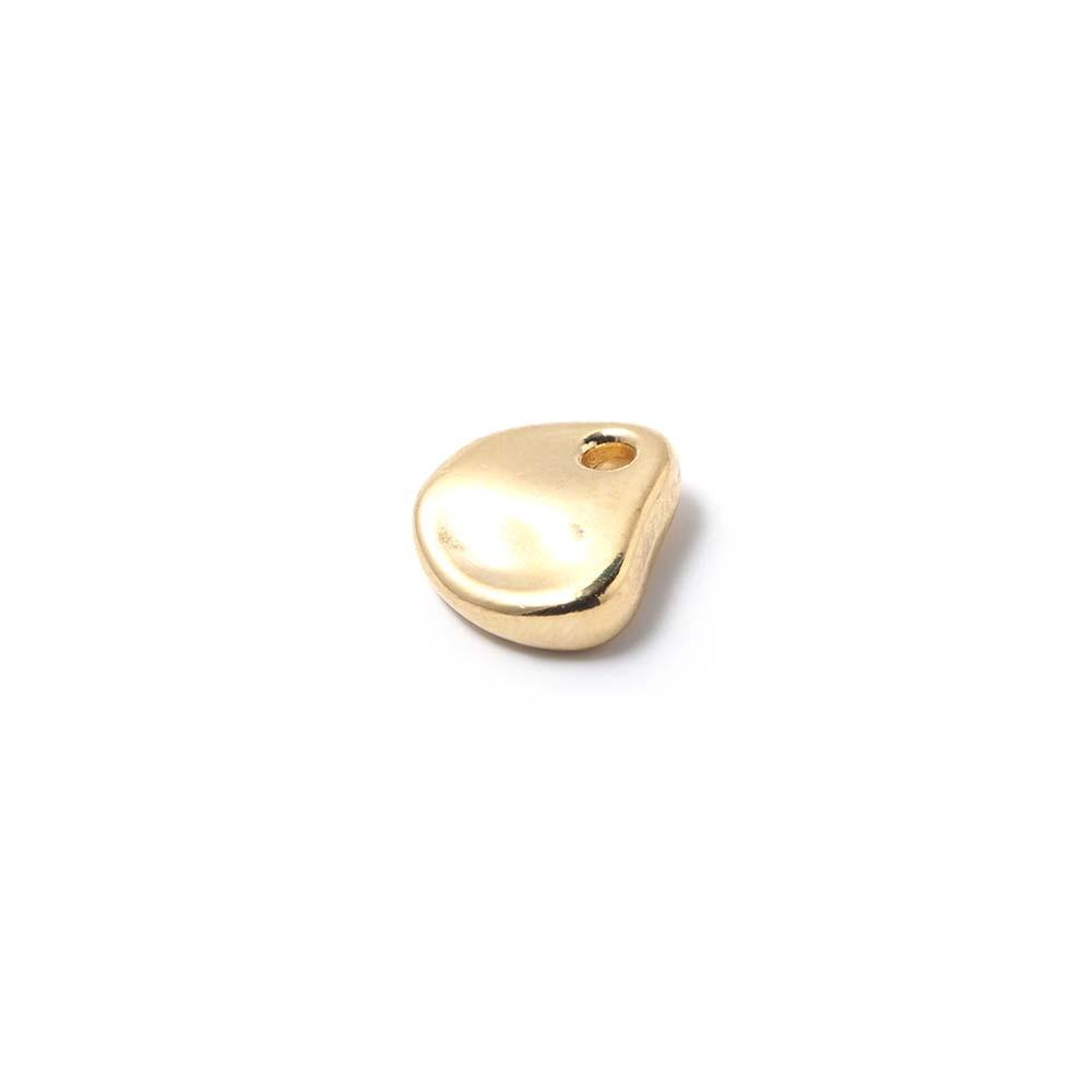Medalla piedra, agujero 1.5mm, oro.