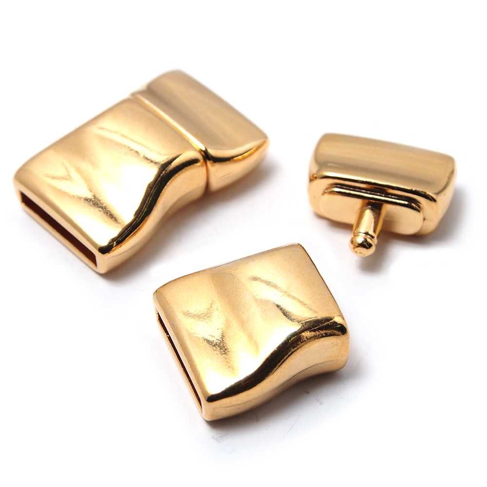 Cierre presión ondulado, 12.5x2.5mm, oro.