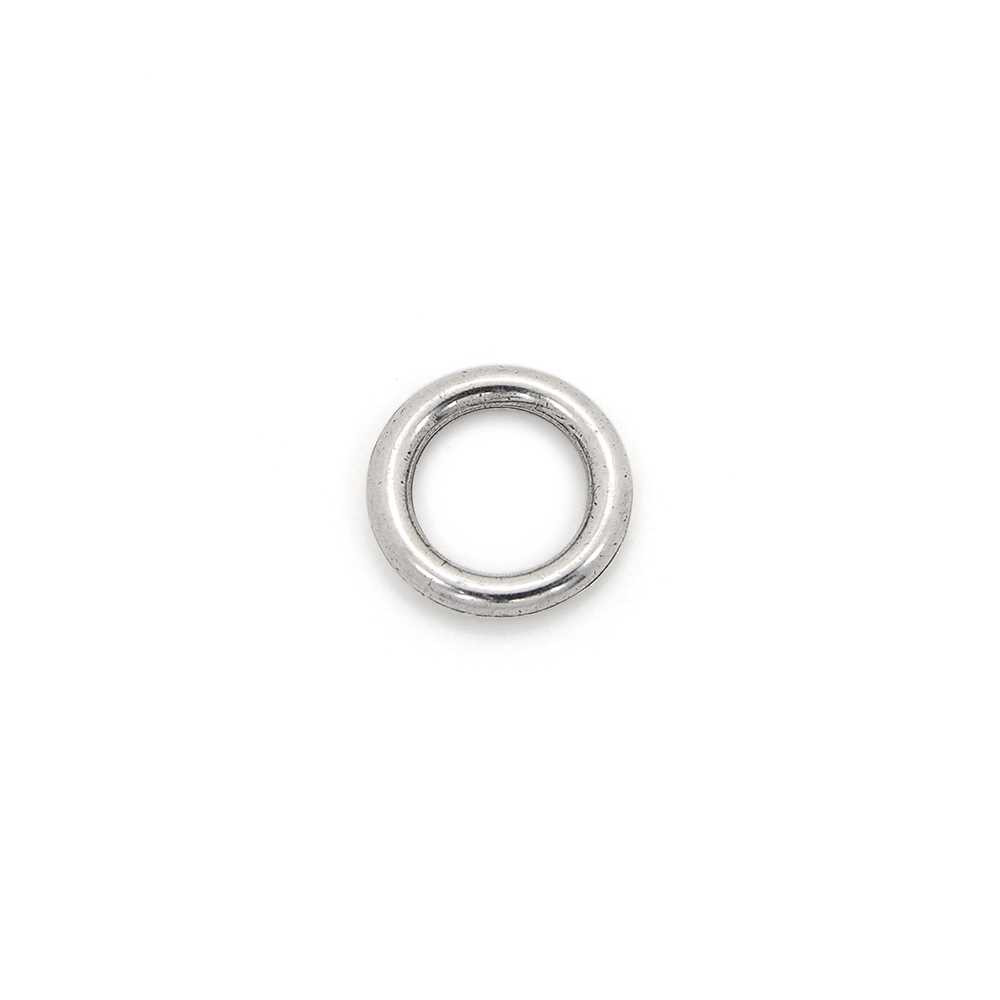 Anilla redonda pase 8 mm. Plata óxido.