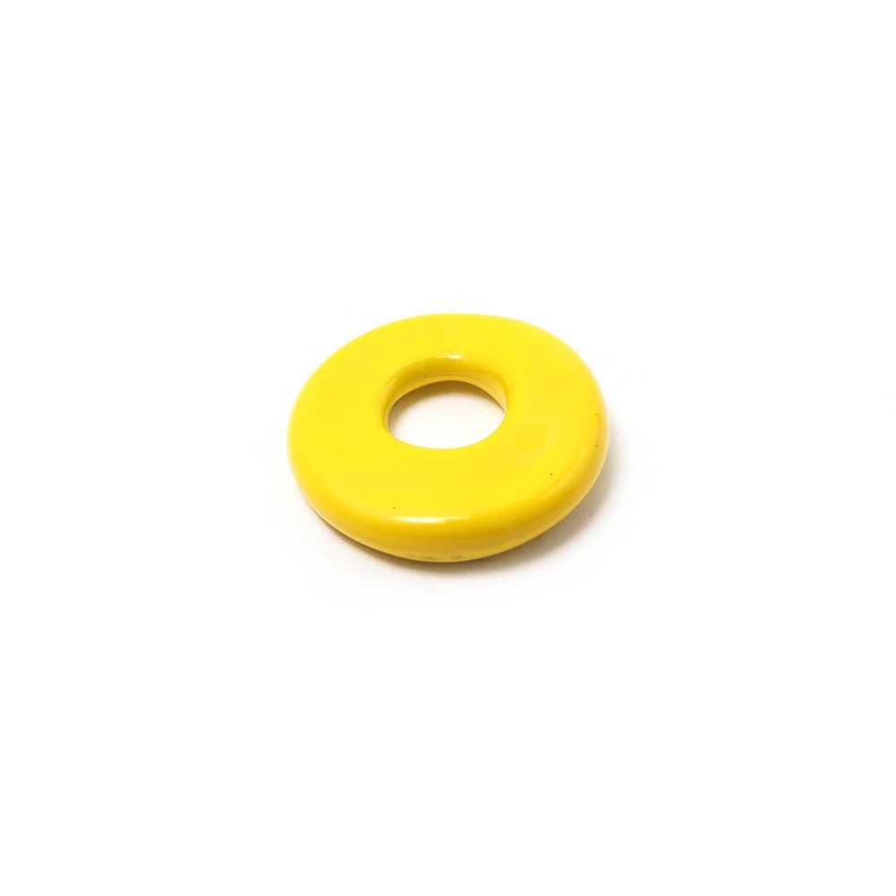 Disco separador golpeado, hueco 5mm, Amarillo.