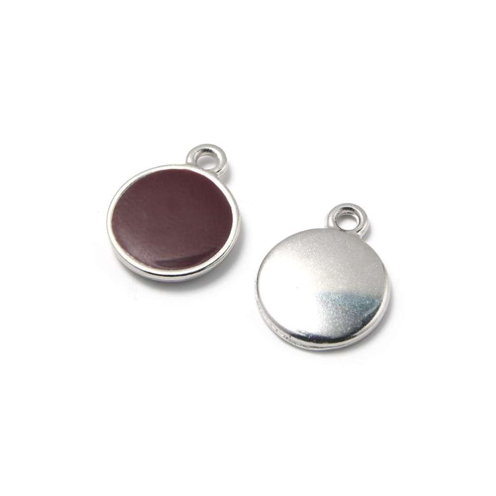 Medalla esmaltada, Granate/plateada.
