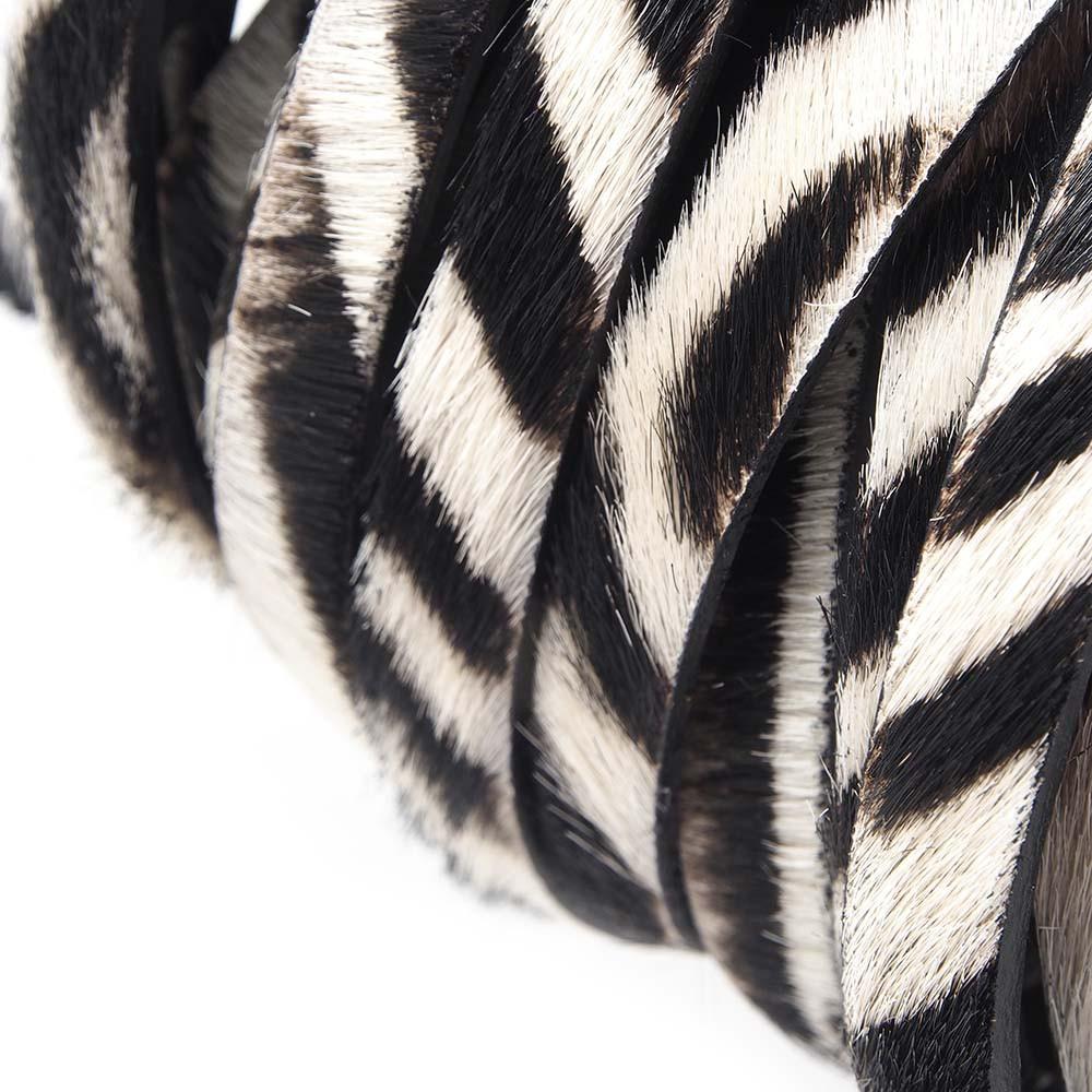 Cuero Plano 9,5x2,5 mm. Cebra (20cm). (PREMIUM)